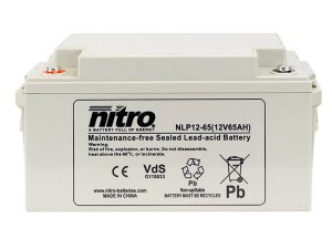 nitro NLP12-65 Batterie / Akku - 12V 65Ah AGM VdS