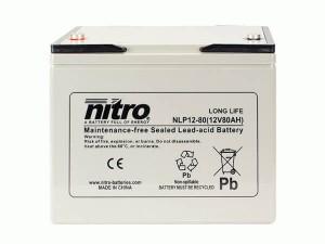 nitro NLP12-80 Batterie / Akku - 12V 80Ah AGM Long Life
