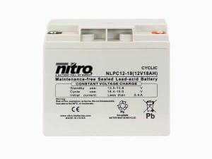 nitro NLPC12-18 Batterie / Akku - 12V 18Ah AGM Cyclic