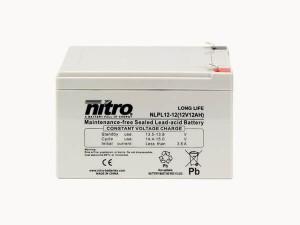 nitro NLPL12-12 Batterie / Akku - 12V 12Ah AGM Long Life