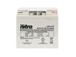 nitro NLPL12-18 Batterie / Akku - 12V 18Ah AGM Long Life