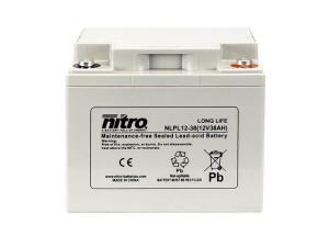 nitro NLPL12-38 Batterie / Akku - 12V 38Ah AGM Long Life
