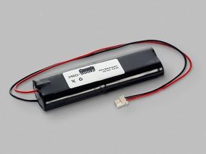 NiCd Notbeleuchtung Akku 4,8V / 800mAh L2x2 Stab mit Kabel und Stecker