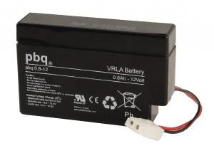 pbq 0.8-12 AGM Bleiakku - 12V 0,8Ah Allzweckbatterie mit AMP Connector