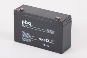 pbq 12-6 AGM Bleiakku - 6V 12Ah Allzweckbatterie mit Faston 4,8mm Anschluss
