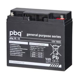pbq 18-12 AGM Bleiakku - 12V 18Ah VdS Allzweckbatterie