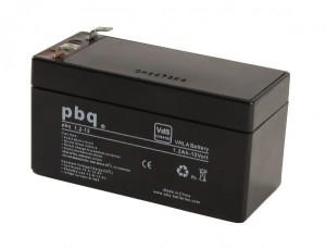 pbq 1.2-12 AGM Bleiakku - 12V 1,2Ah VdS Allzweckbatterie Faston 4,8 mm