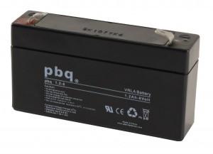 pbq 1.2-6 AGM Bleiakku - 6V 1,2Ah Allzweckbatterie mit Faston 4,8mm Anschluss