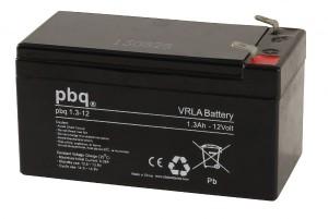 pbq 1.3-12 AGM Bleiakku - 12V 1,3Ah Allzweckbatterie mit Faston 4,8mm Anschluss