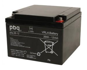 pbq 26-12 AGM Bleiakku - 12V 26Ah VdS Allzweckbatterie