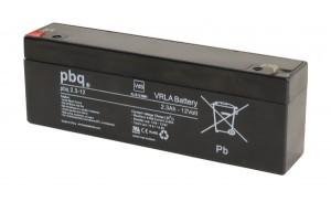 pbq 2.3-12 AGM Bleiakku - 12V 2,3Ah VdS Allzweckbatterie Faston 4,8 mm