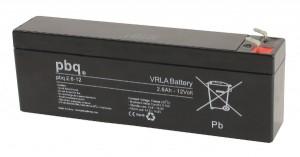 pbq 2.6-12 AGM Bleiakku - 12V 2,6Ah Allzweckbatterie mit Faston 4,8mm Anschluss