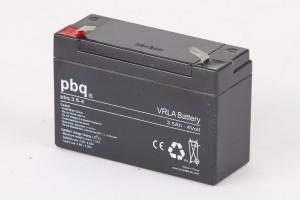 pbq 3.5-4 AGM Bleiakku - 4V 3,5Ah Allzweckbatterie mit Faston 4,8mm Anschluss