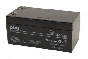 pbq 3.2-12 AGM Bleiakku - 12V 3,2Ah VdS Allzweckbatterie Faston 4,8 mm