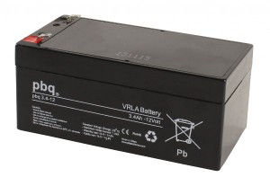 pbq 3.4-12 AGM Bleiakku - 12V 3,4Ah Allzweckbatterie