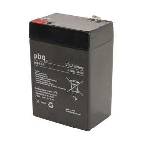 pbq 4.5-6 AGM Bleiakku - 6V 4,5Ah Allzweckbatterie mit Faston 4,8mm Anschluss