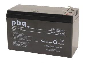 pbq 7-12L AGM Bleiakku - 12V 7Ah VdS Allzweckbatterie Faston 6,3 mm