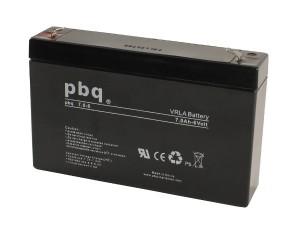 pbq 7.0-6 AGM Bleiakku - 6V 7Ah Allzweckbatterie mit Faston 4,8mm Anschluss