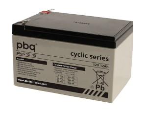 pbq C12-12 AGM Bleiakku - 12V 12Ah zyklenfest
