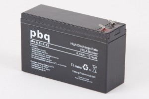 pbq HR6.5-12 / 6.5HR-12 AGM Bleiakku - 12V 6.5Ah High Rate-Batterie