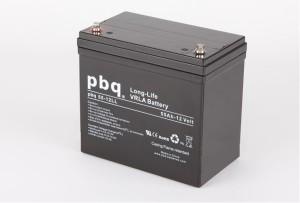 pbq L55-12 / 55-12LL AGM Bleiakku - 12V 55Ah Long Life-Batterie