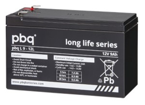 pbq L9-12L AGM Bleiakku - 12V 9Ah Long Life-Batterie