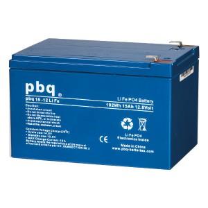pbq 15-12Life LiFePO4 Batterie - 12,8V 15Ah Lithium-Ferrophosphat-Akku