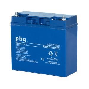 pbq 20-12Life LiFePO4 Batterie - 12,8V 20Ah Lithium-Ferrophosphat-Akku