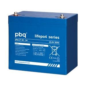 pbq LF30-24 LiFePO4 Batterie - 25,6V 30Ah Lithium-Ferrophosphat-Akku