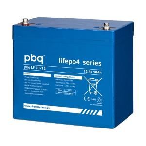 pbq LF50-12 LiFePO4 Batterie - 12,8V 50Ah Lithium-Ferrophosphat-Akku