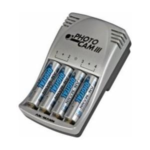 Ansmann Ladegerät Photocam III für NiMH / NiCd Mignon AA und Micro AAA Akkus
