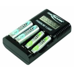Ansmann Ladegerät Powerline 4 light für NiMH / NiCd Micro AAA und Mignon AA Akkus