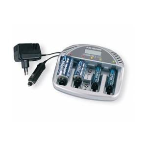 Ansmann Ladegerät Powerline 5 LCD für NiMH / NiCd Micro AAA. Mignon AA, Baby C, Mono D und 9V E-Block Akkus