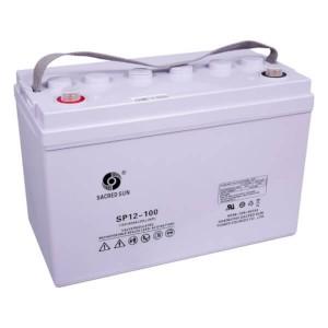 Sacred Sun SP12-100 AGM Batterie 12V 100Ah Long Life Akku