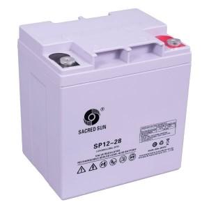 Sacred Sun SP12-28 AGM Batterie 12V 28Ah Long Life Akku