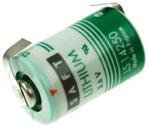 Saft Lithium Batterie LS14250 | CNR mit Lötfahne in U-Form