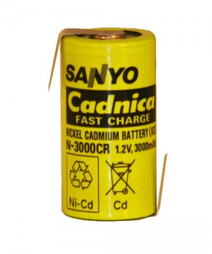 Sanyo N-3000CR Cadnica, LR14, Baby, C, Z-Lötfahne