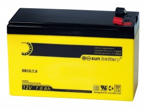 Sun Battery SB12-7.0 12V 7Ah Bleiakku Faston 187 Anschluss