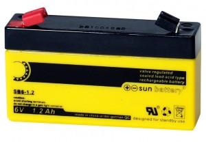Sun Battery SB6-1.2 6V 1,2Ah Bleiakku