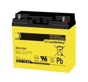 SUN Battery SB12-18 12V 18Ah Bleiakku VdS