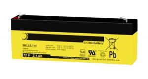 SUN Battery SB12-2.1 - 12V 2,1Ah AGM Bleiakku VdS
