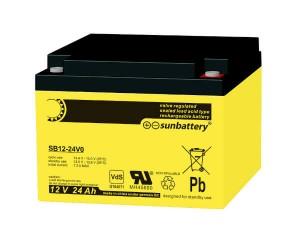 SUN Battery SB12-24 12V 24Ah Bleiakku VdS