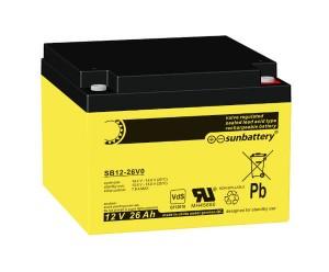 SUN Battery SB12-26 12V 26Ah Akku/Batterie VdS