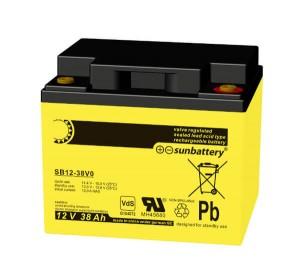 SUN Battery SB12-38 12V 38Ah Bleiakku VdS