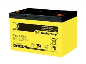 SUN Battery SB12-65S 12V 65Ah Blei-AGM Akku VdS