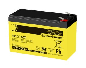 SUN Battery SB12-7.2L 12V 7,2Ah Bleiakku VdS
