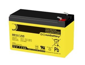 SUN Battery SB12-7.2 12V 7,2Ah Bleiakku VdS