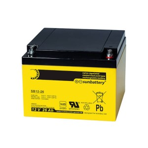 SUN Battery SB12-26 12V 26Ah Akku/Batterie VdS