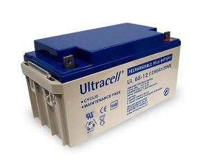 Ultracell UL65-12 12V 65Ah wiederaufladbare VRLA Batterie Akku VdS