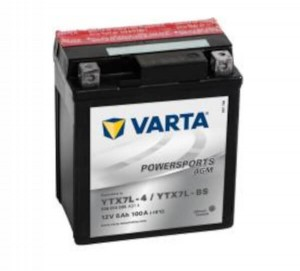 VARTA Powersports AGM 506 014 005 Motorradbatterie  - 12V 6Ah wartungsfrei